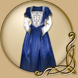 Costume - Blue Renaissance Dress with Silver Decor